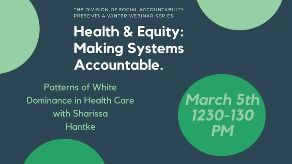 Health Equity How to Make Systems More Accountable